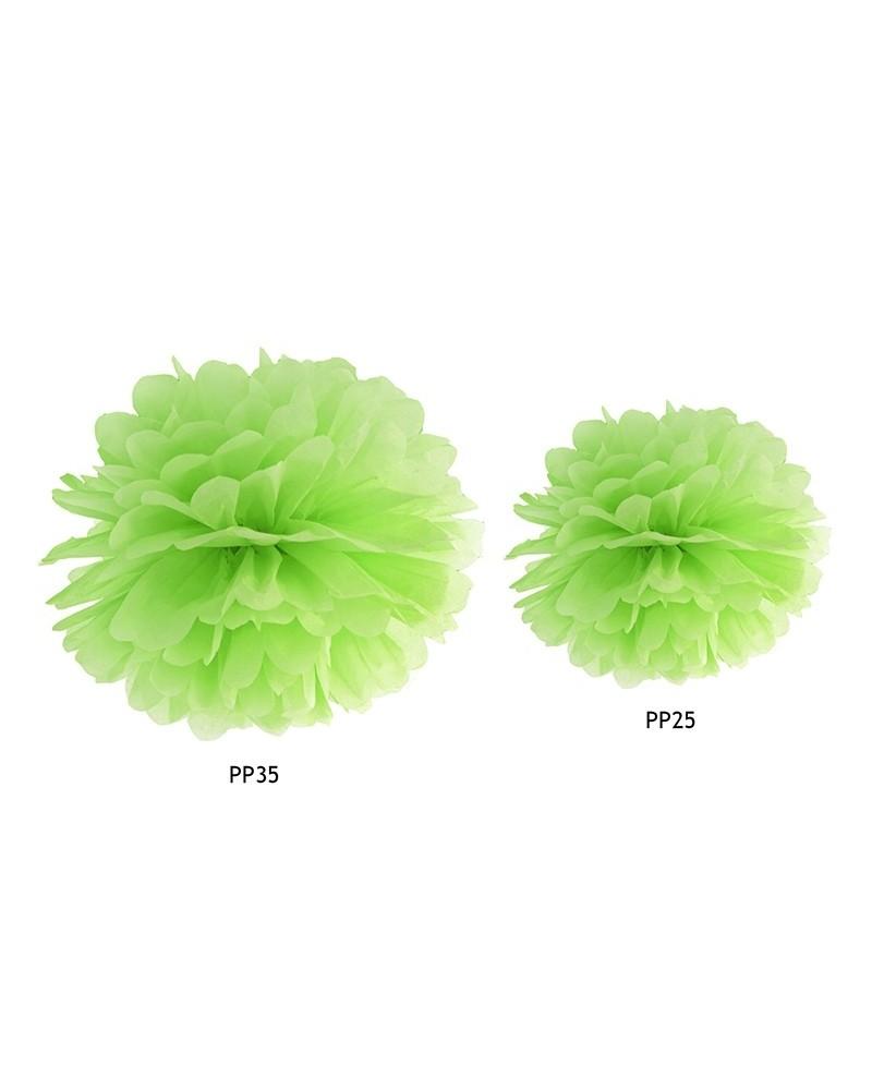Pompon bibułowy 35cm Zielony