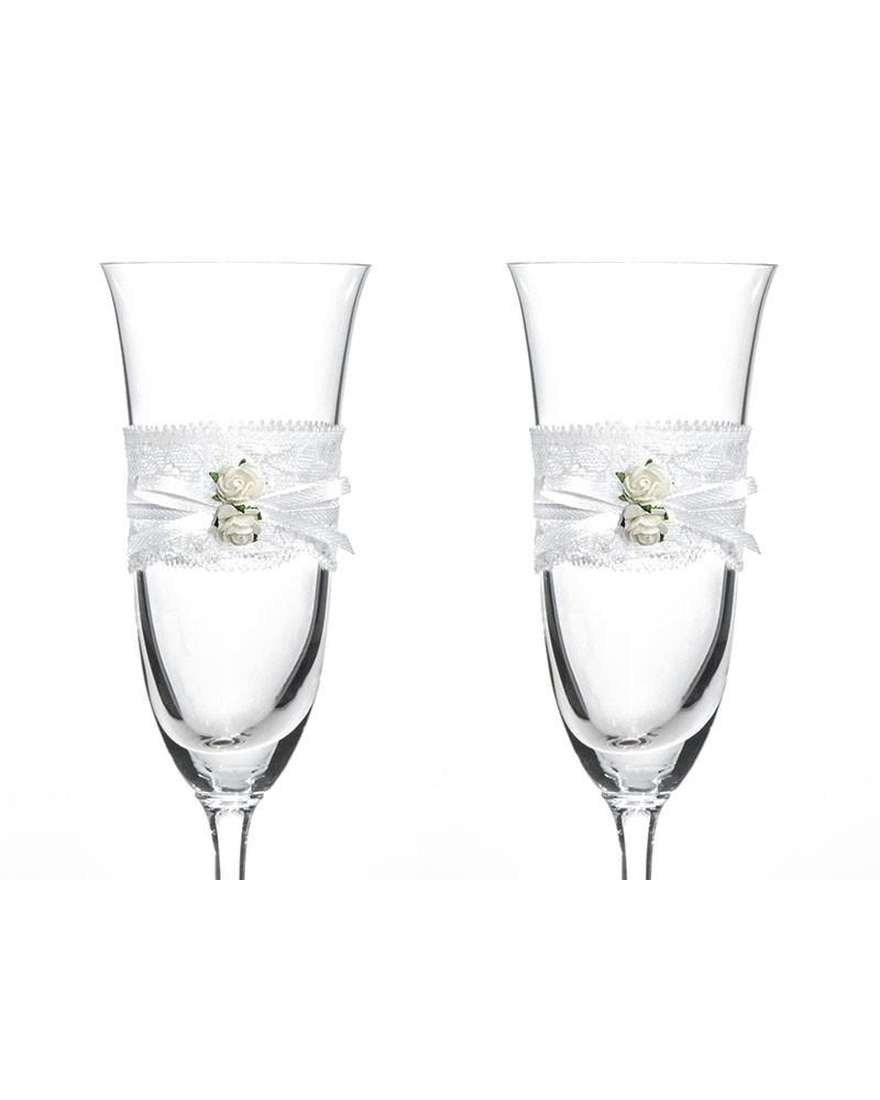 Kieliszki do szampana Białe
