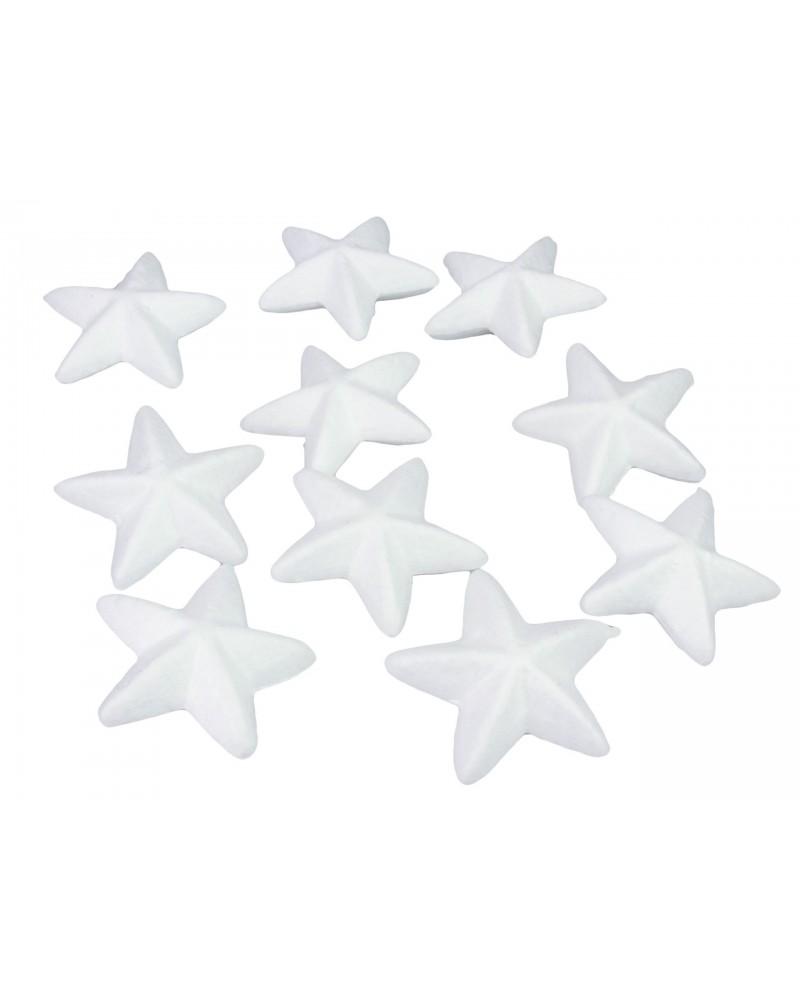 Styropianowe gwiazdki 6,5cm