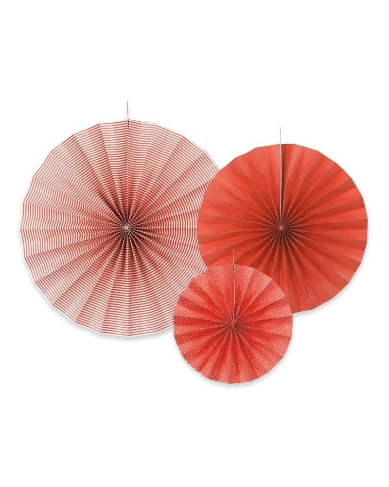 Rozety dekoracyjne czerwone