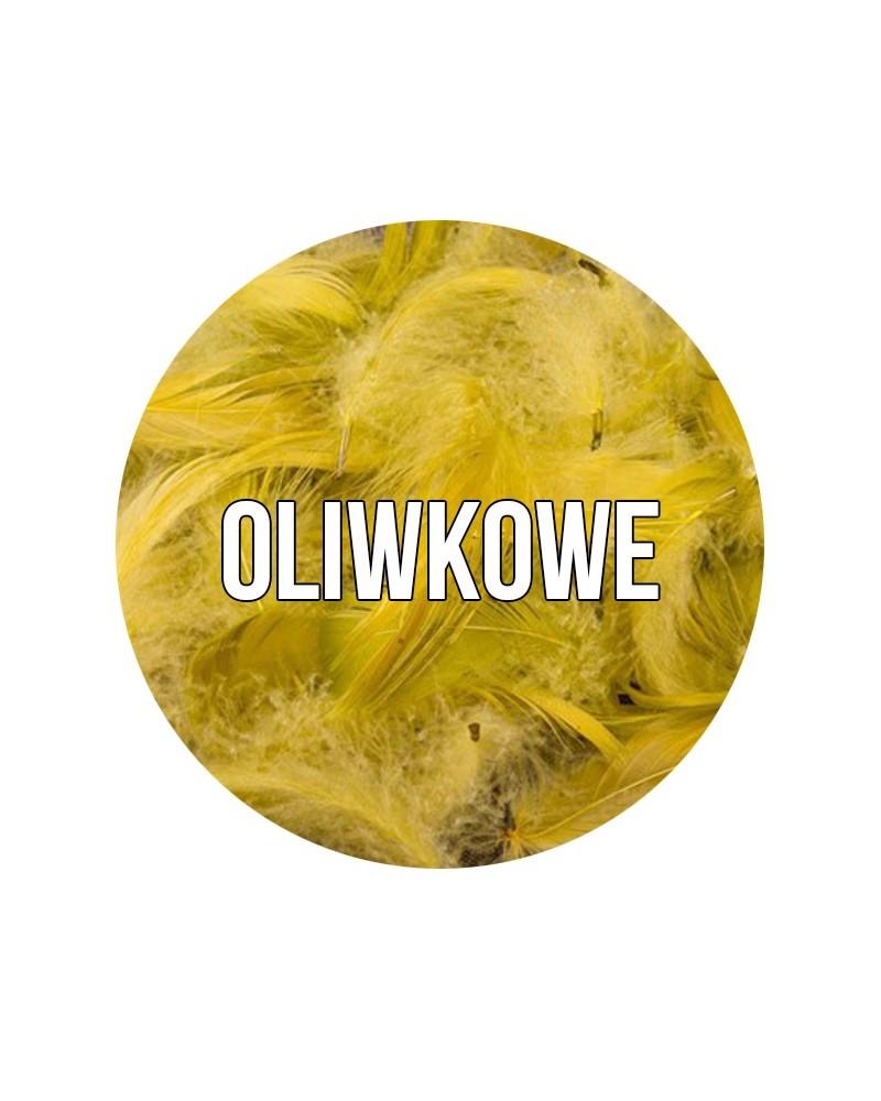 Piórka dekoracyjne w torebce Oliwka