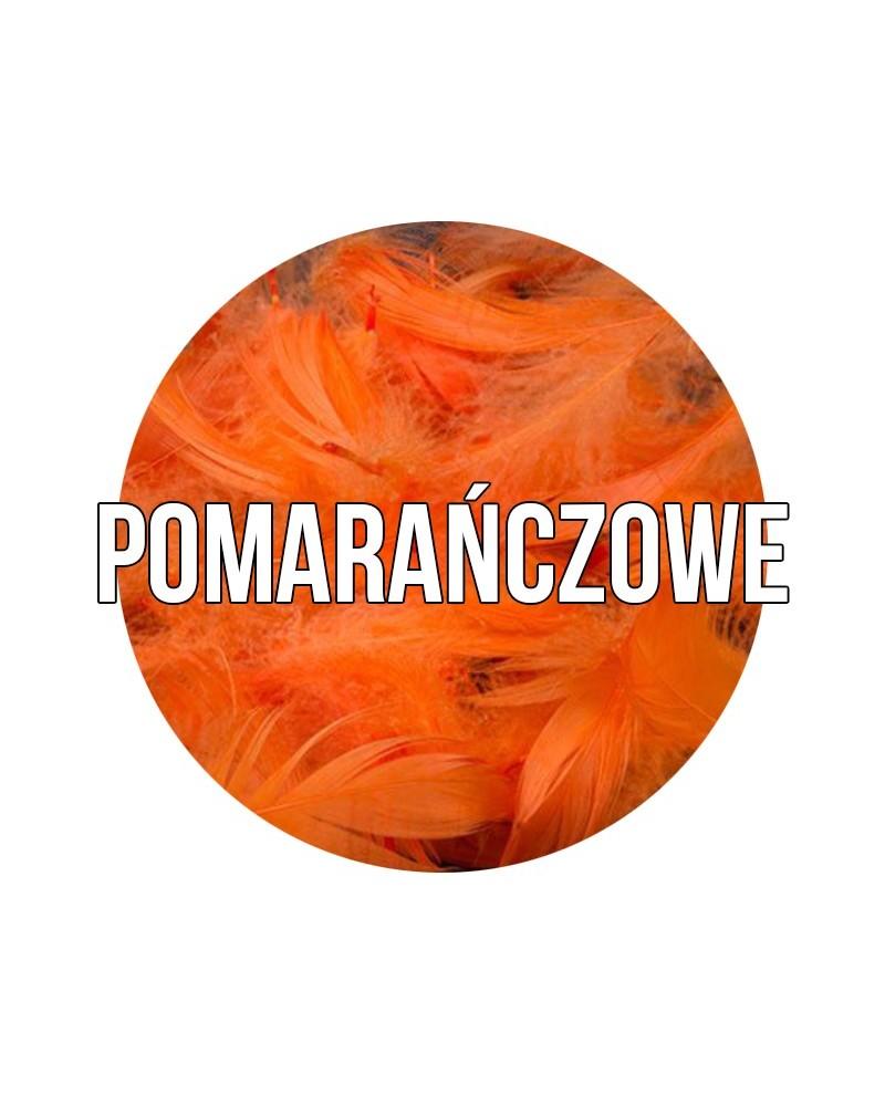 Piórka dekoracyjne w torebce Pomarańczowe