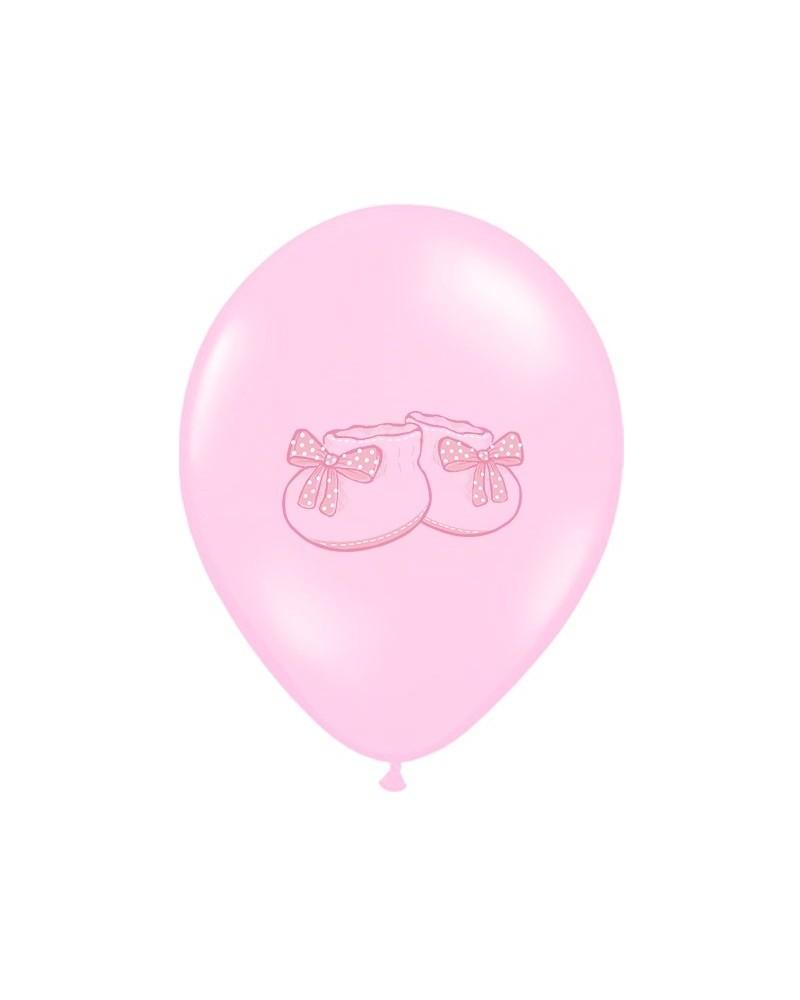 """Balony na """"1"""" urodziny BUCIK Różowy"""