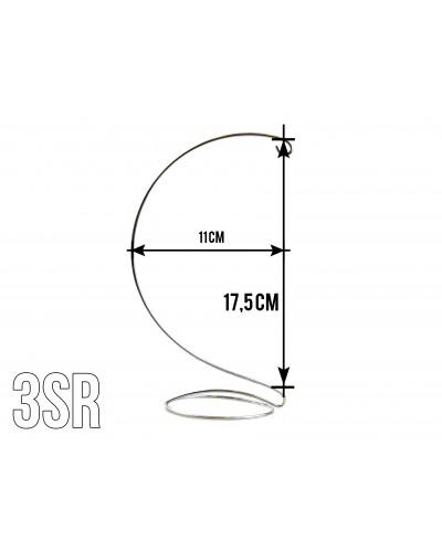 Stojak na bombki o średnicy 12cm Srebrny wzór 3