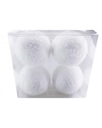 Bombki śnieżynki 10cm 4 sztuki