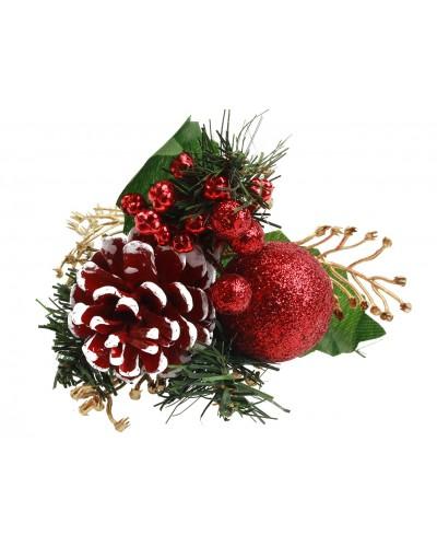 Stroik Gałązka świąteczna czerwona