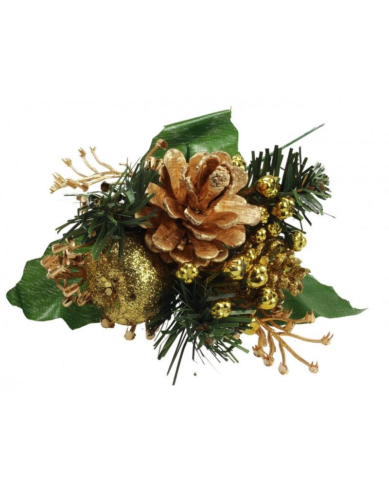 Stroik Gałązka świąteczna złota