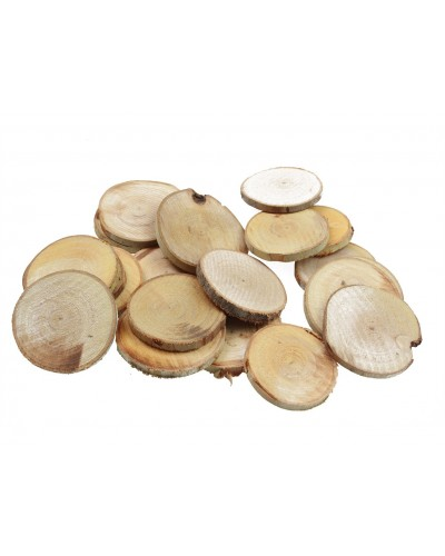 Drewniane plastry Decoupage Naturalne
