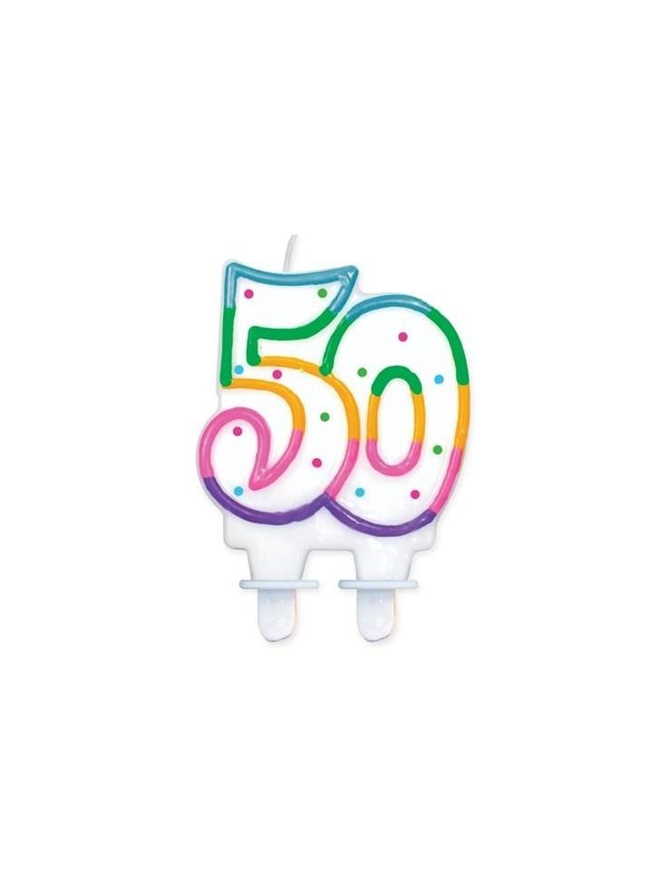 świeczka Na 50 Tke Dekoracje Urodzinowe Happeningspl