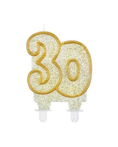 Złota świeczka na 30-stke