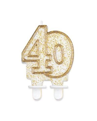 Złota świeczka na 40-stke