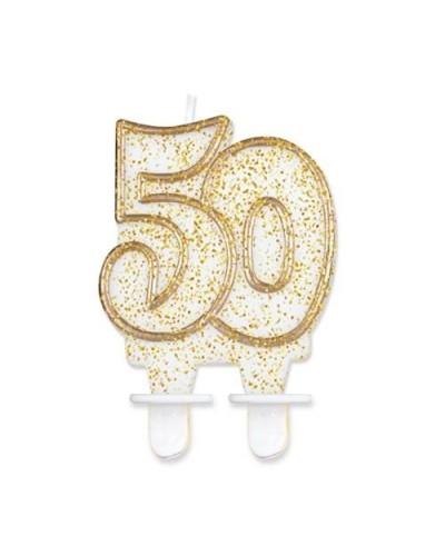Złota świeczka na 50-tke