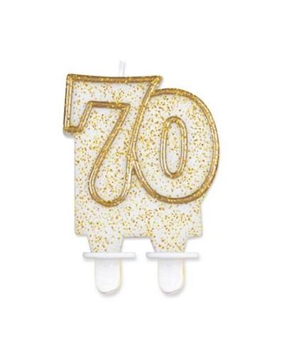 Złota świeczka na 70-tke