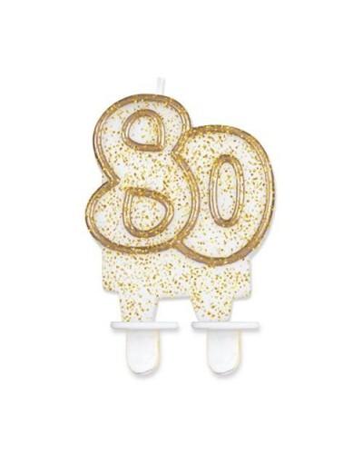Złota świeczka na 80-tke