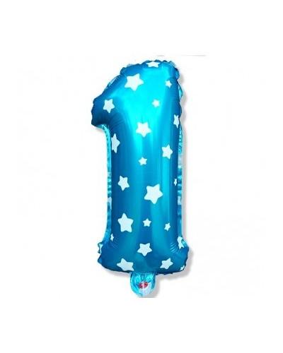 Balon foliowy na 1 urodziny niebieski