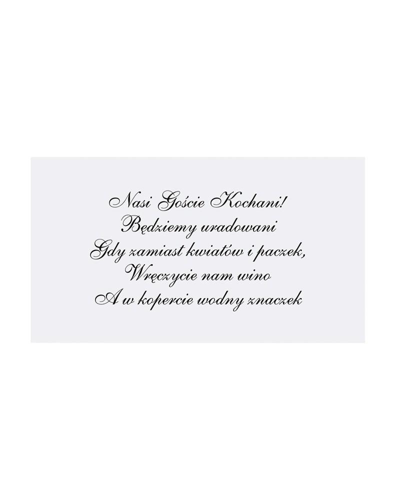 Wkładki Do Zaproszeń ślubnych Zaproszenia ślubne Od Happeningspl