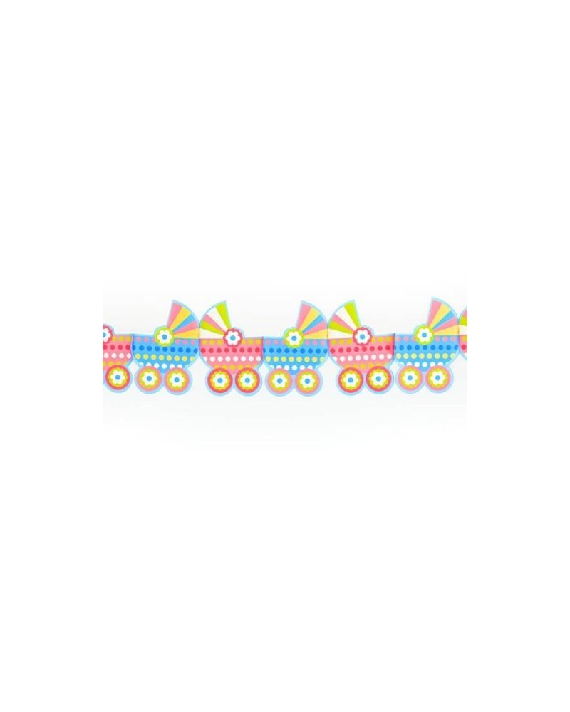 Girlanda papierowa wózeczki