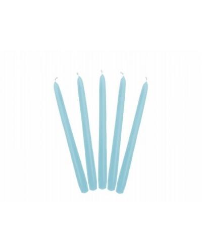 Świeca stożkowa 24cm Błękitna