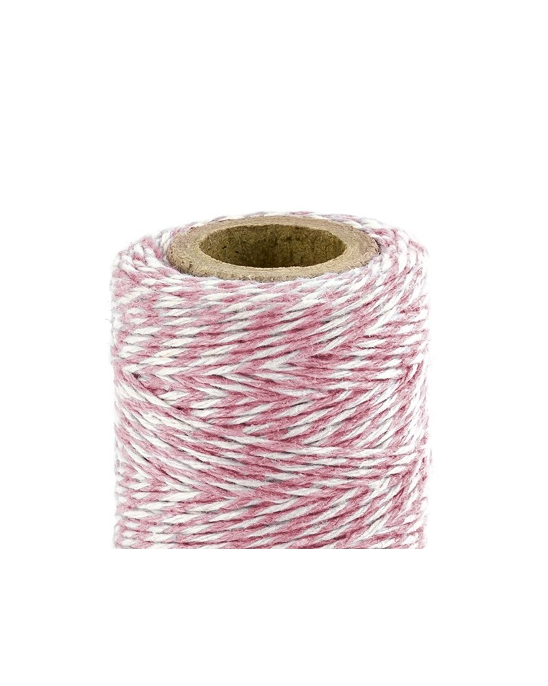 Sznurek bawełniany Różowy 50m