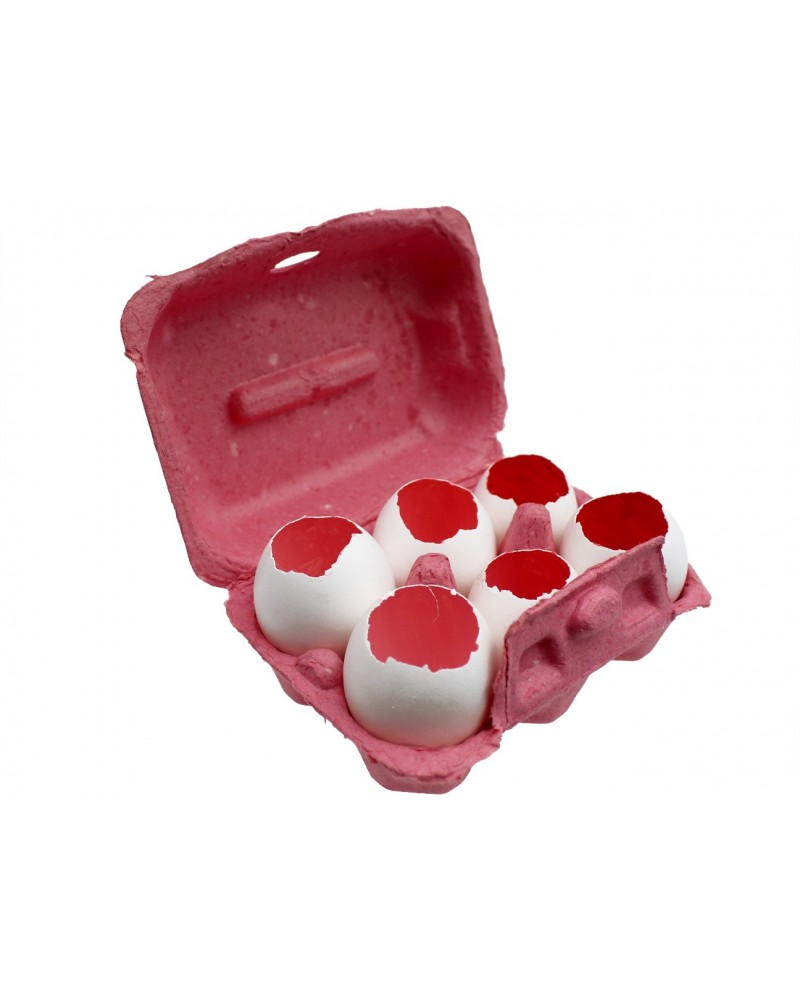 Wydmuszki różowe w ozdobnym opakowaniu