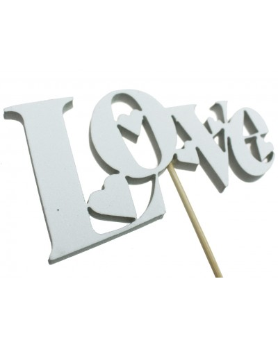 Love na piku Biały 12x7cm