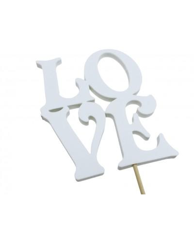 Love na piku Biały 12x10cm