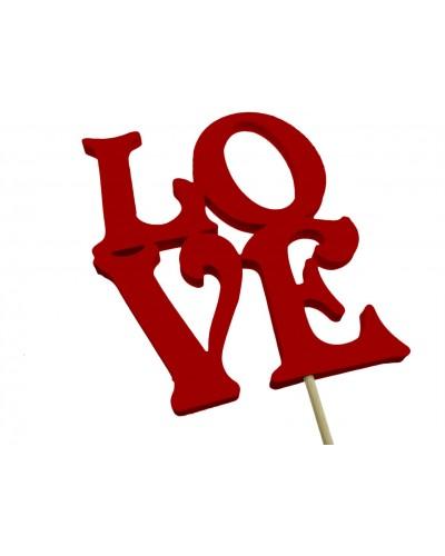 Love na piku Czerwone 12x10cm