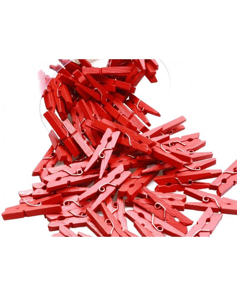 Klamerki ozdobne czerwone