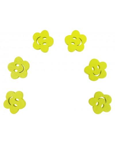 Kwiatki scrapbooking żółte 6 szt.