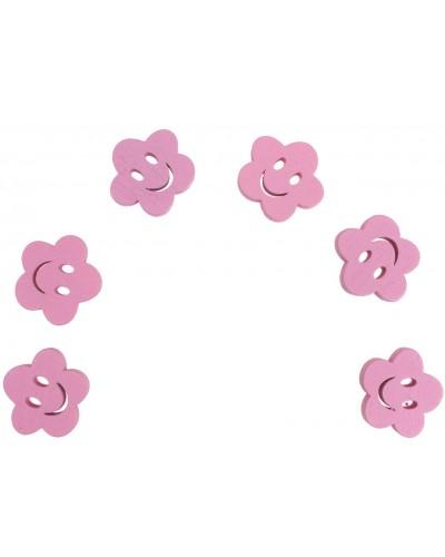 Kwiatki scrapbooking różowe 6 szt.
