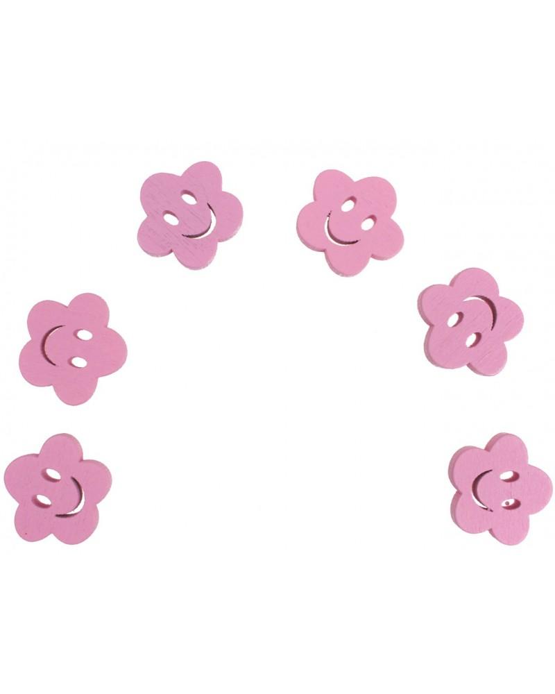 Kwiatki decoupage różowe