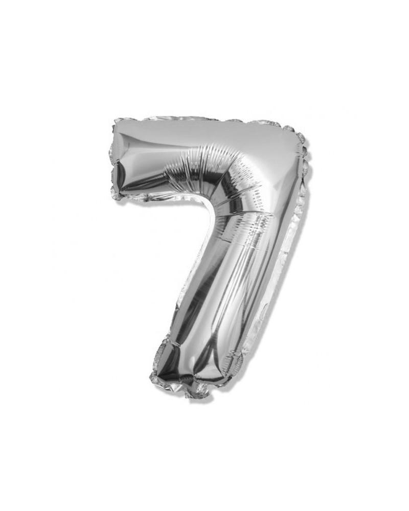 bc73e89b71396f Balon foliowy srebrna cyfra 7 na urodziny 40cm - Balony Happenings.pl