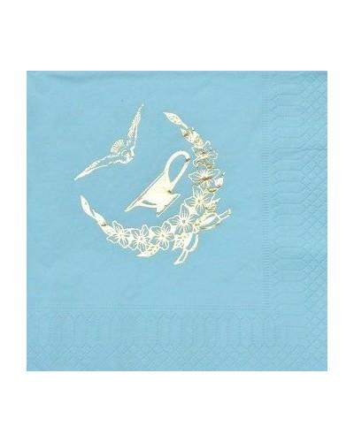 Serwetki na chrzest Błękitne