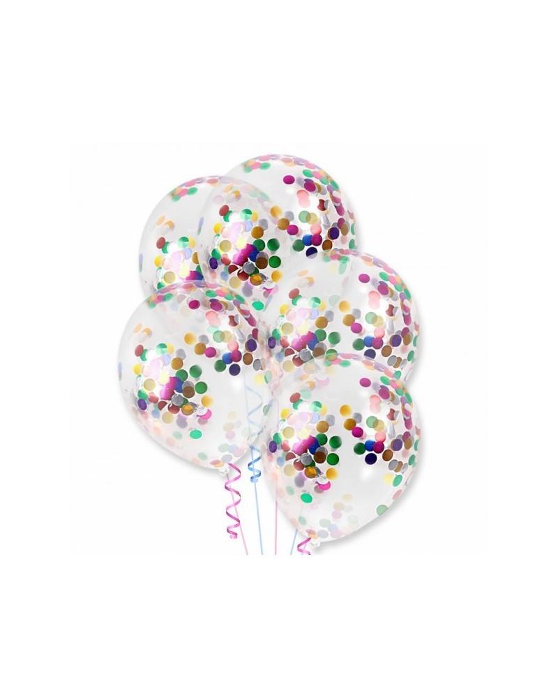 Balony z kolorowym konfetti