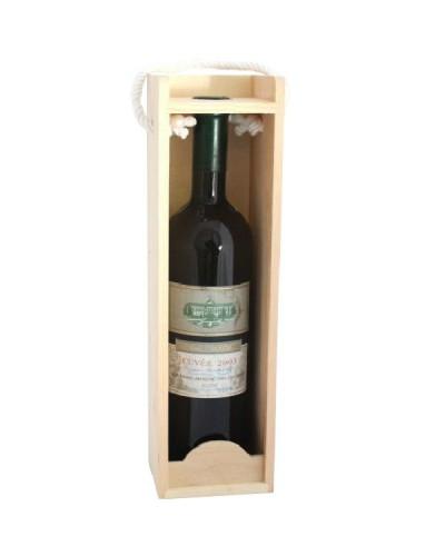 Drewniana skrzynka na wino, prezent