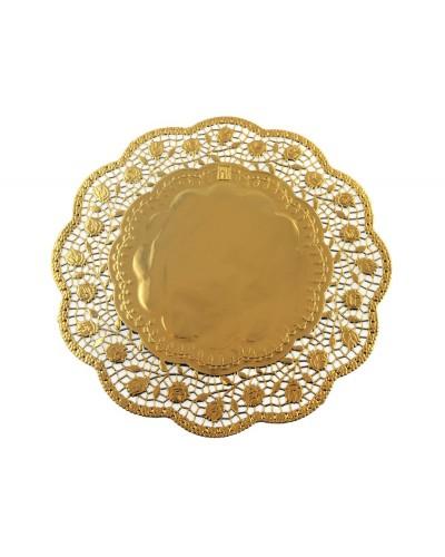 Serwetka ażurowa 28 cm złota