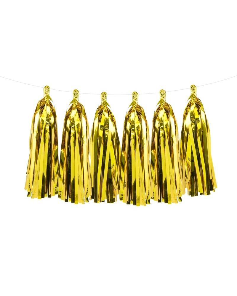 Girlanda, frędzle złote