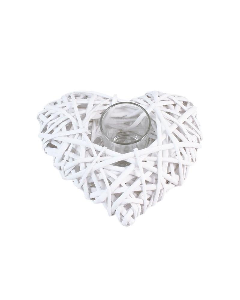 Świecznik w kształcie serca