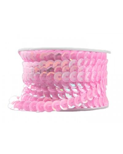 Cekiny na rolce 6mm różowe