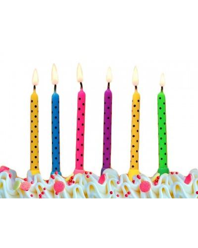 Świeczki urodzinowe 6 sztuk wz1