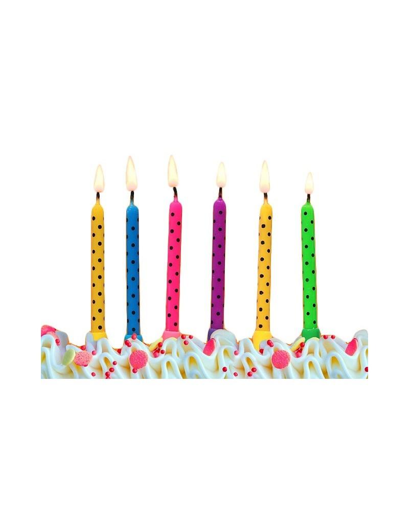 Świczki urodzinowe 6 sztuk wz1