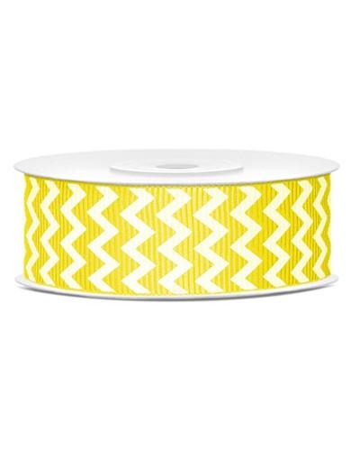 Wstążka tasiemka rypsowa 25mm żółta