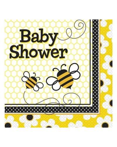 Serwetki baby shower pszczółki