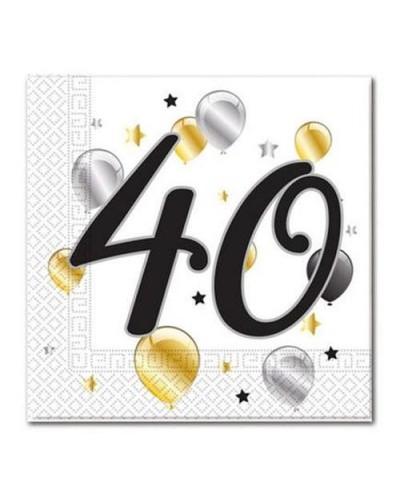 Serwetki na 40 urodziny w balony