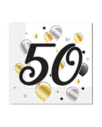 Serwetki na 50 urodziny w balony