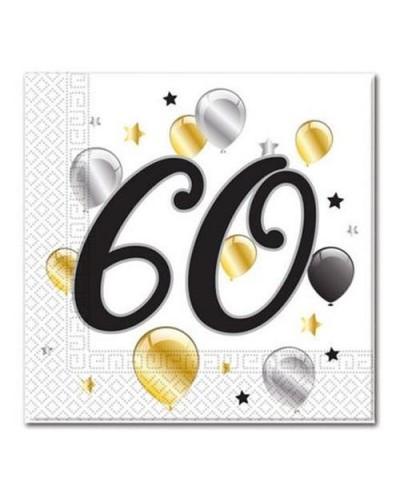 Serwetki na 60 urodziny w balony