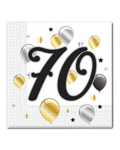 Serwetki na 70 urodziny w balony