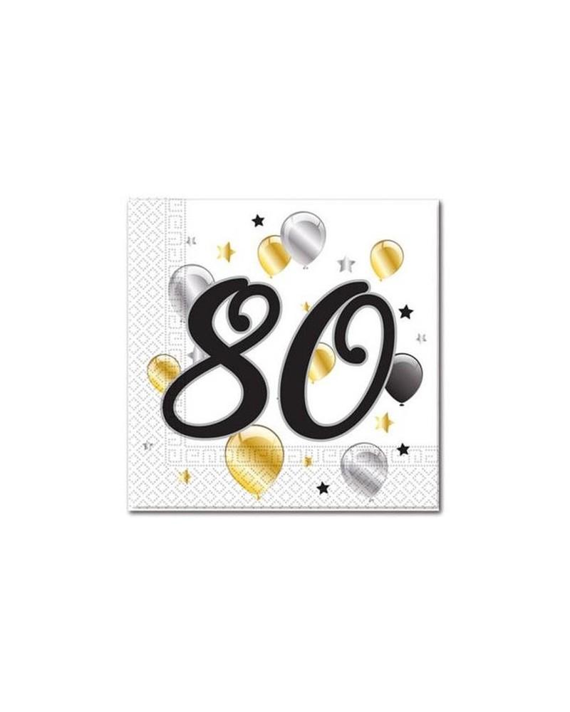 Serwetki na 80 urodziny w balony