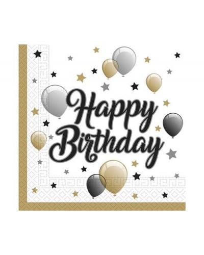 Serwetki na urodziny w balony Happy Birthday