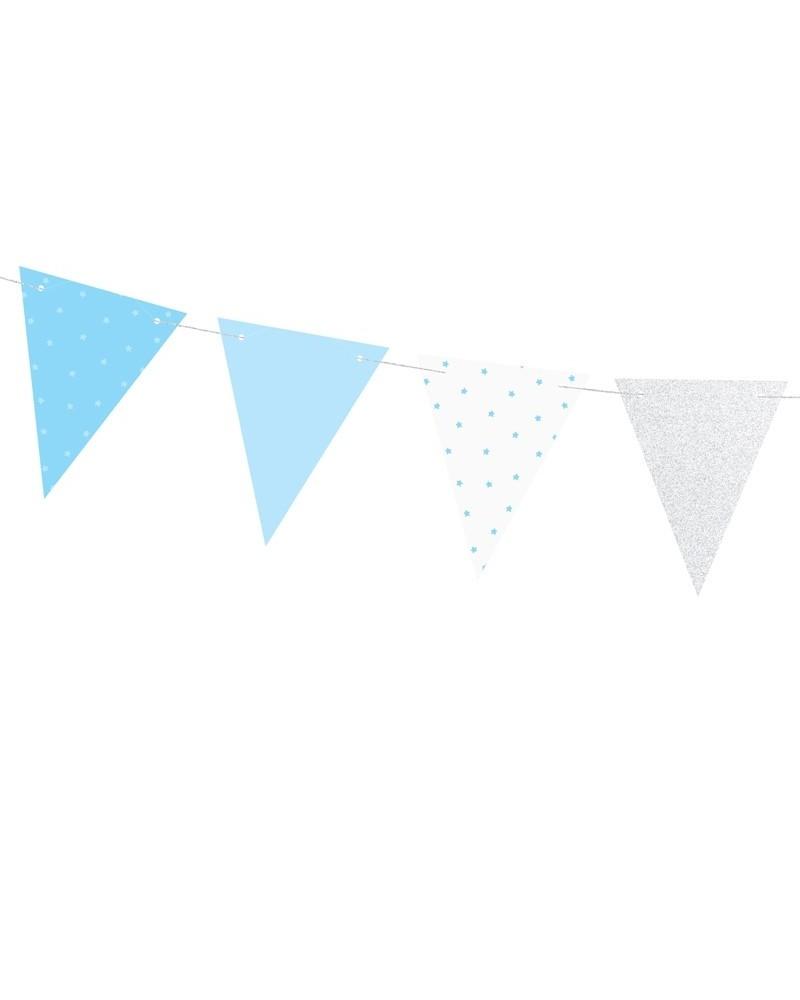 Girlanda 1st Birthday - Niebieskie Flagietki